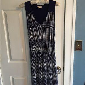 Deletta Striped Blue Dress